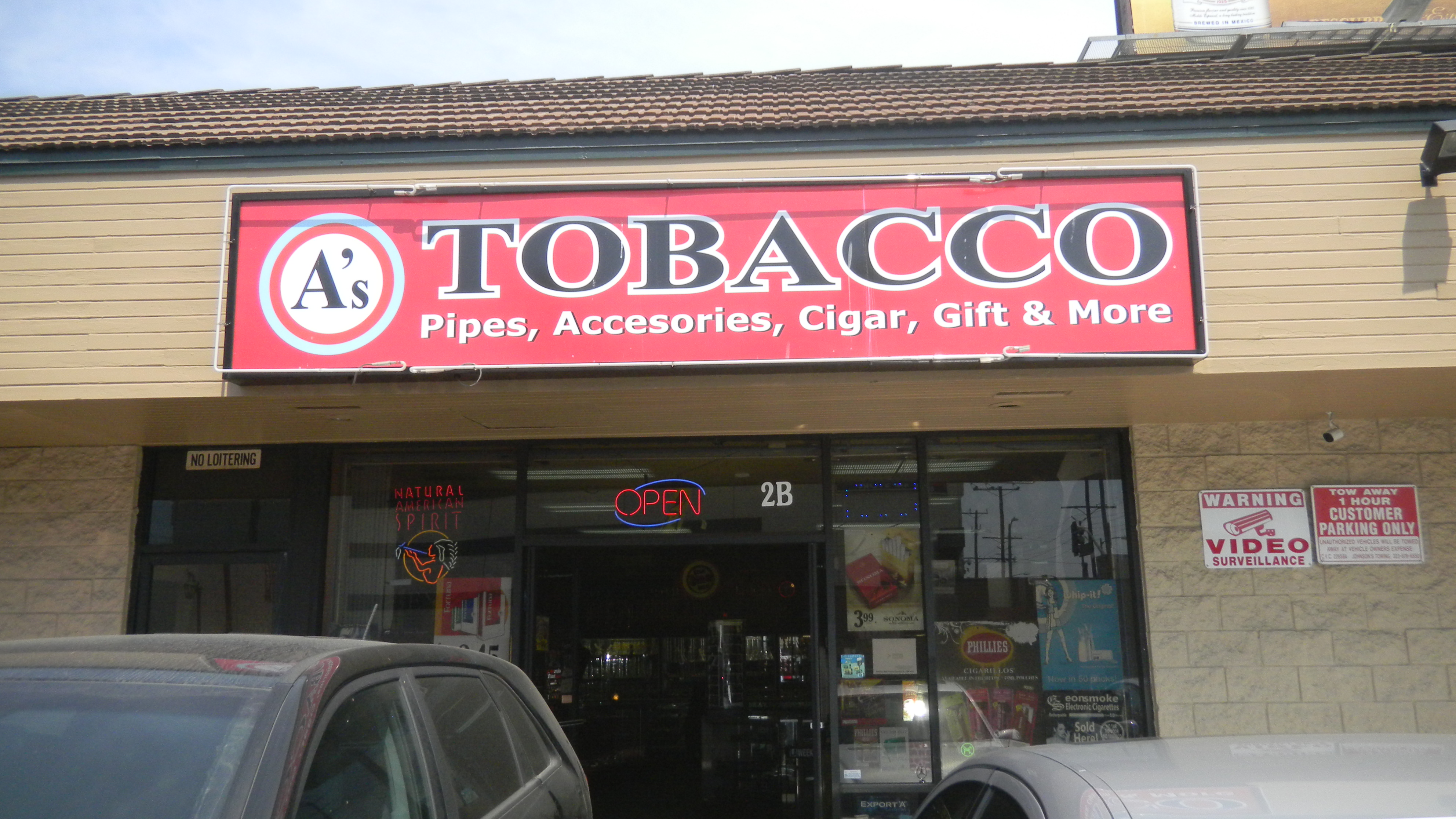 A's Tobacco 6775 Santa Monica Blvd. Los Angeles, CA 90038 (323) 466-1789